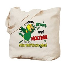 Molting Double Yellow Headed Amazon Tote Bag