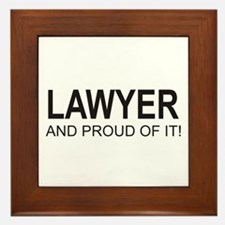 The Proud Lawyer Framed Tile
