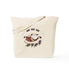 Santa and Mrs. Clause Christmas Tote Bag