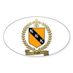 GAGNE Family Crest Oval Decal