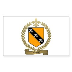 GAGNE Family Crest Rectangle Decal