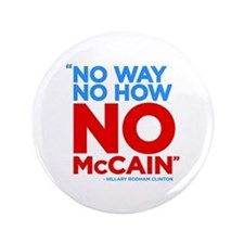 "No McCain 3.5"" Button"