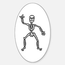 ILY Skeleton Oval Decal