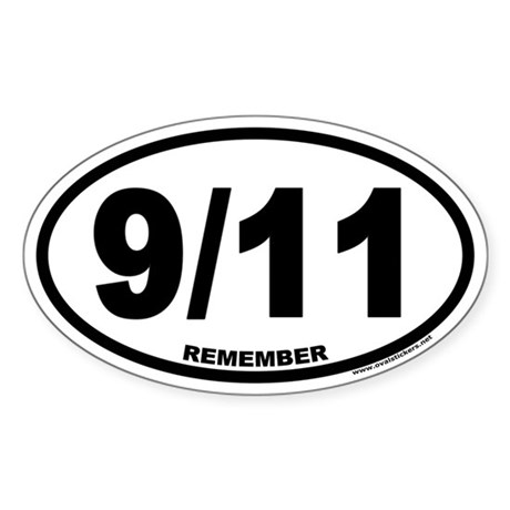 Remember 9/11 Euro Oval Sticker