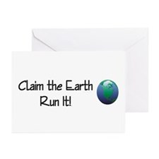 TOP Run Earth Greeting Cards (Pk of 20)