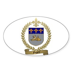 FUGERE Family Crest Oval Decal