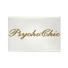 Gold PsychoChic Rectangle Magnet (10 pack)