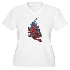 Blood Fire Skull T-Shirt
