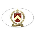 FRIGAULT Family Crest Oval Sticker