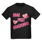 Home Sweet Homeschool Kids Dark T-Shirt