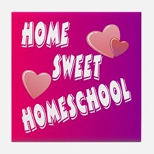 Home Sweet Homeschool Tile Coaster