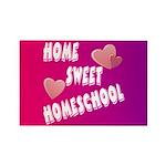Home Sweet Homeschool Rectangle Magnet (100 pack)