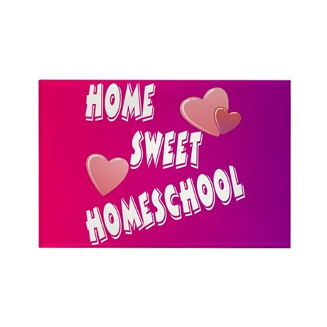 Home Sweet Homeschool Rectangle Magnet (100 pack)