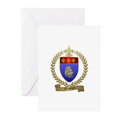 FRESCHET Family Crest Greeting Cards (Pk of 10