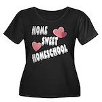 Home Sweet Homeschool Women's Plus Size Scoop Neck