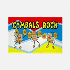 Cymbals Rock Rectangle Magnet