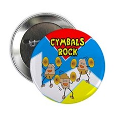 "Cymbals Rock 2.25"" Button"