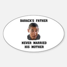 OBAMA'S PARENTS Oval Decal