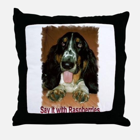 Bertie Basset Throw Pillow