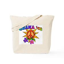 Obama Peace Flower Tote Bag
