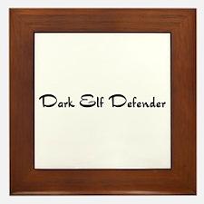 Dark Elf Defender Framed Tile