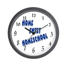 Home Sweet Homeschool Wall Clock