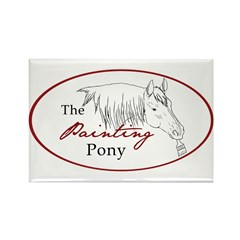 Painting Pony Logo Rectangle Magnet