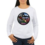 Pentacle Collage Women's Long Sleeve T-Shirt