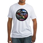 Pentacle Collage Fitted T-Shirt