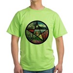 Pentacle Collage Green T-Shirt