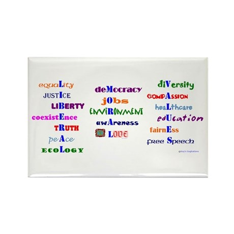 Liberal Moral Values Rectangle Magnet