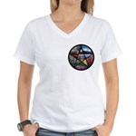 Pentacle Collage Women's V-Neck T-Shirt