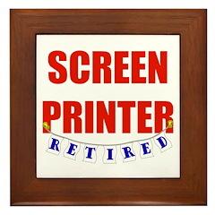 Retired Screen Printer Framed Tile