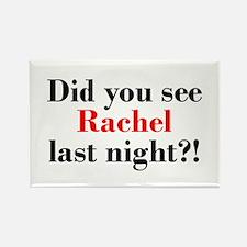 Rachel Fan Rectangle Magnet