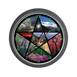 Pentacle Collage Wall Clock