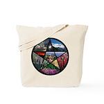 Pentacle Collage Tote Bag