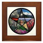 Pentacle Collage Framed Tile
