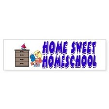 Home Sweet Homeschool Bumper Bumper Sticker