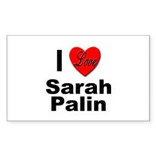 I Love Sarah Palin Rectangle Decal