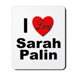 I Love Sarah Palin Mousepad