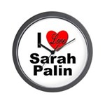 I Love Sarah Palin Wall Clock