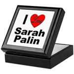I Love Sarah Palin Keepsake Box