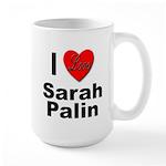 I Love Sarah Palin Large Mug
