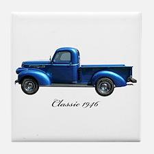 1946 Vintage Pickup Truck Tile Coaster