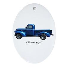 1946 Vintage Pickup Truck Ornament (Oval)