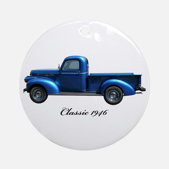 1946 Vintage Pickup Truck Ornament (Round)