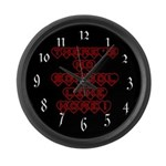 No School Like Home Large Wall Clock