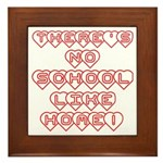 No School Like Home Framed Tile