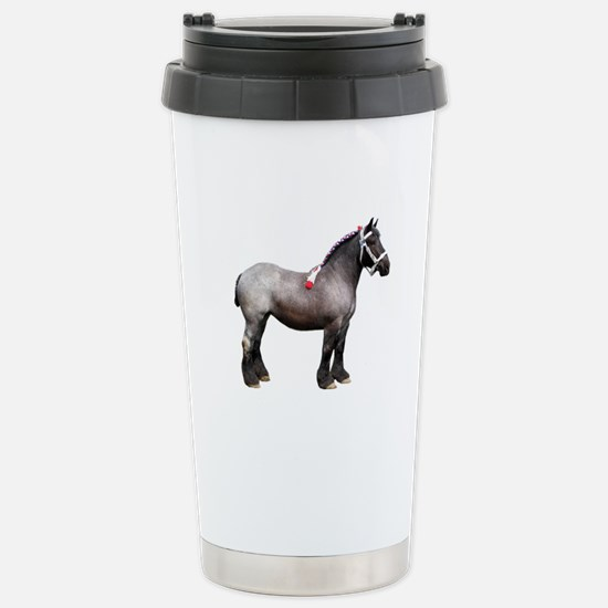 """Belgian 1"" Stainless Steel Travel Mug"