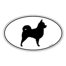 Long Hair Chihuahua Oval Decal